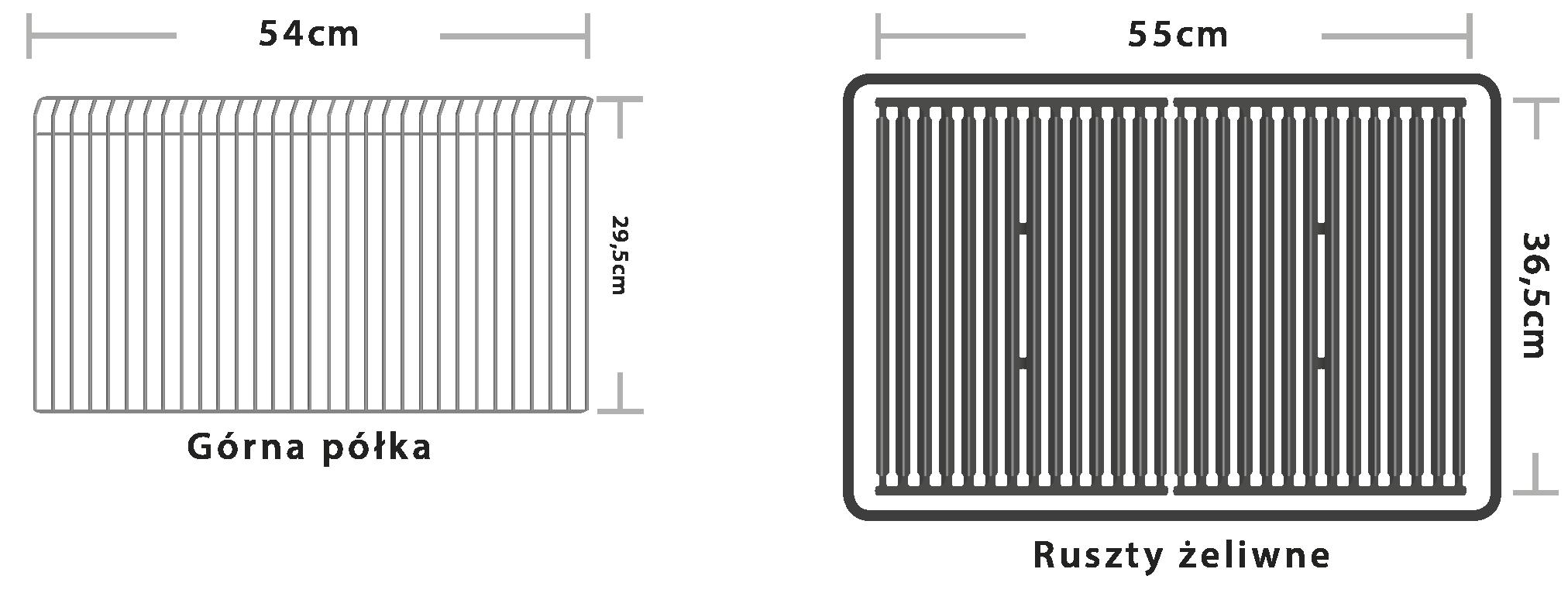 Broil King Royal 320 - Ruszta żeliwne